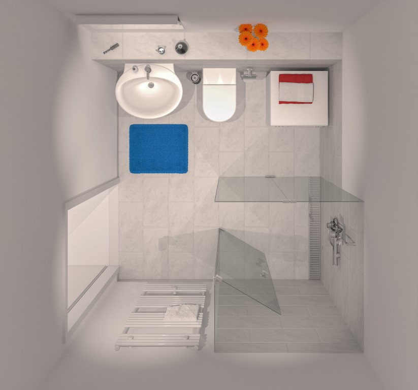 Das Badezimmer von oben