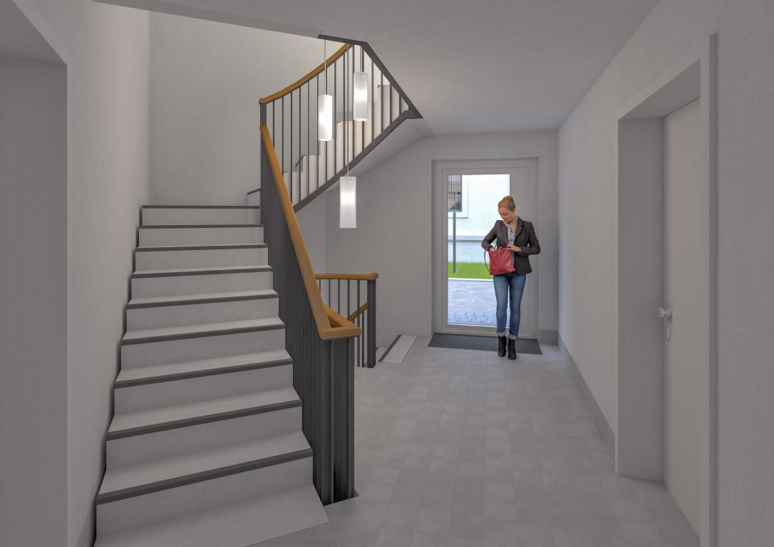 Das Treppenhaus im Gebäude